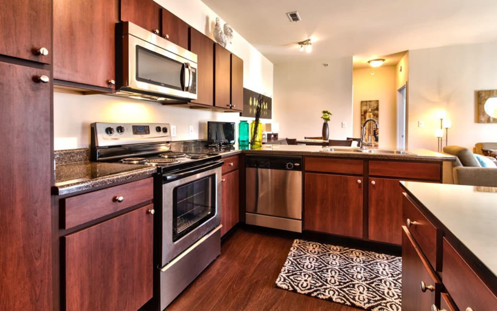 Large kitchens at Aventura at Richmond in Saint Peters, Missouri.