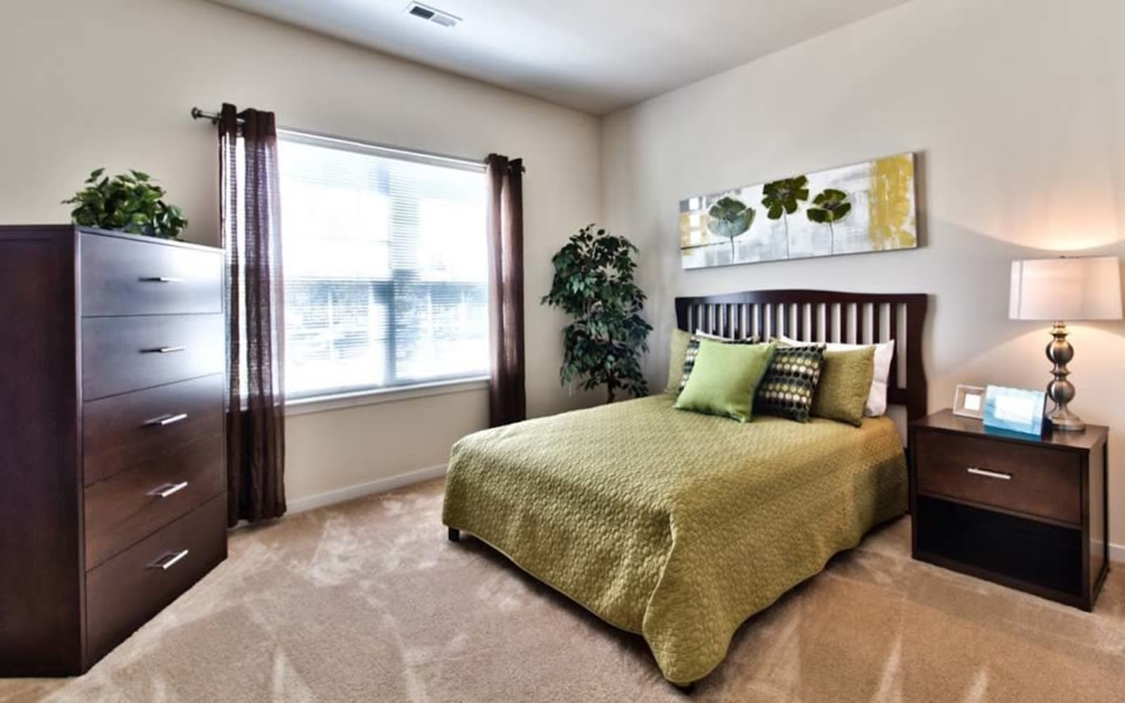 Bedrooms with natural light at Aventura at Richmond in Saint Peters, Missouri.