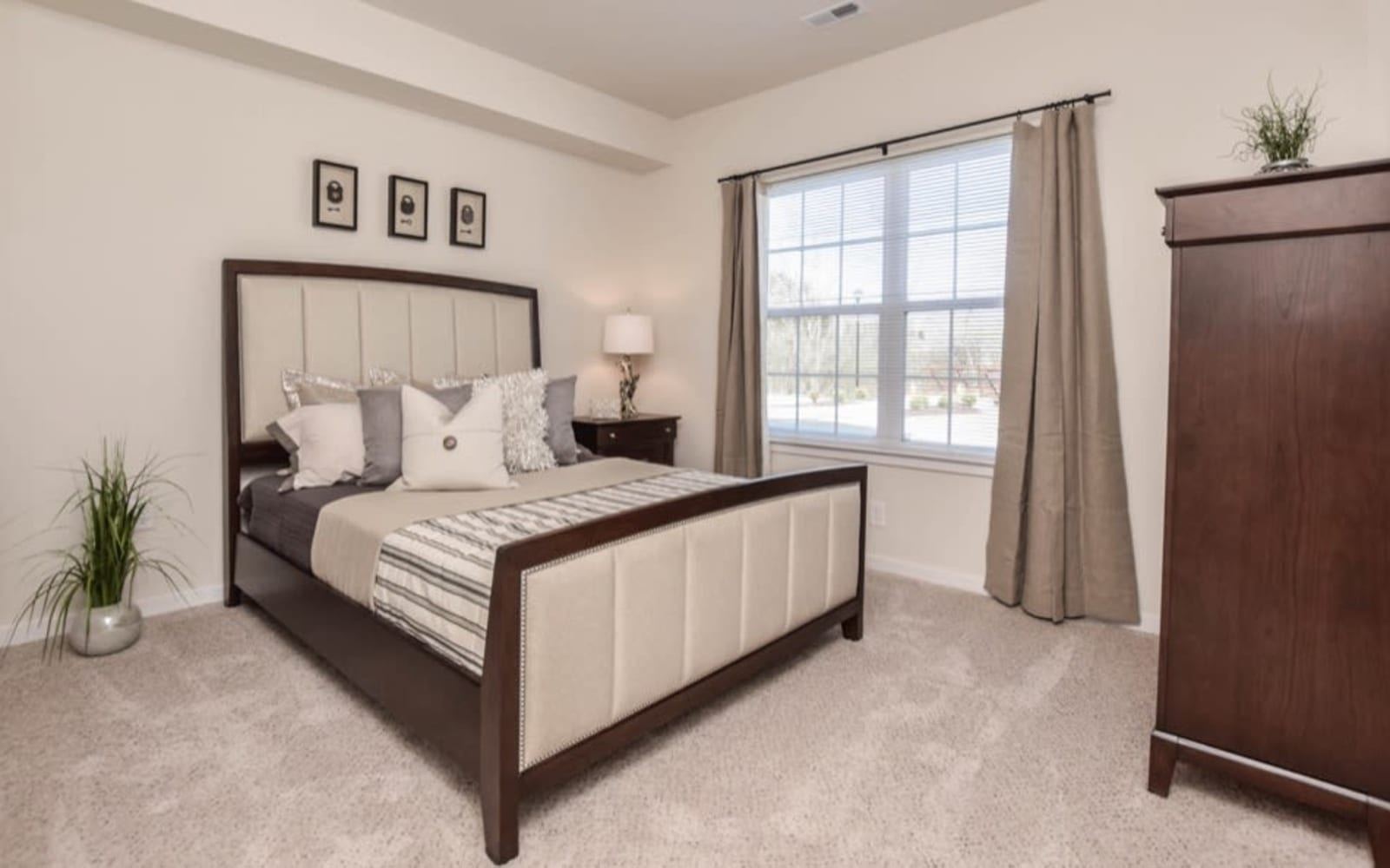 Large bedrooms available at Aventura at Towne Centre in Ellisville, Missouri.