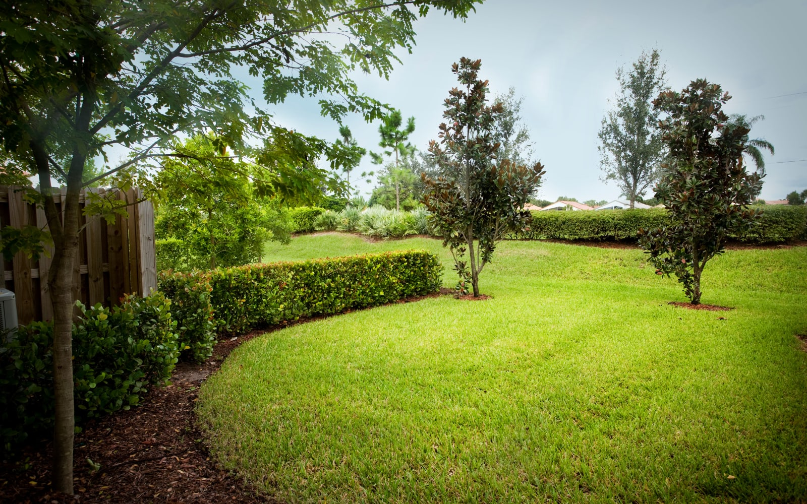 Beautiful landscaping at Green Cay Village in Boynton Beach, Florida