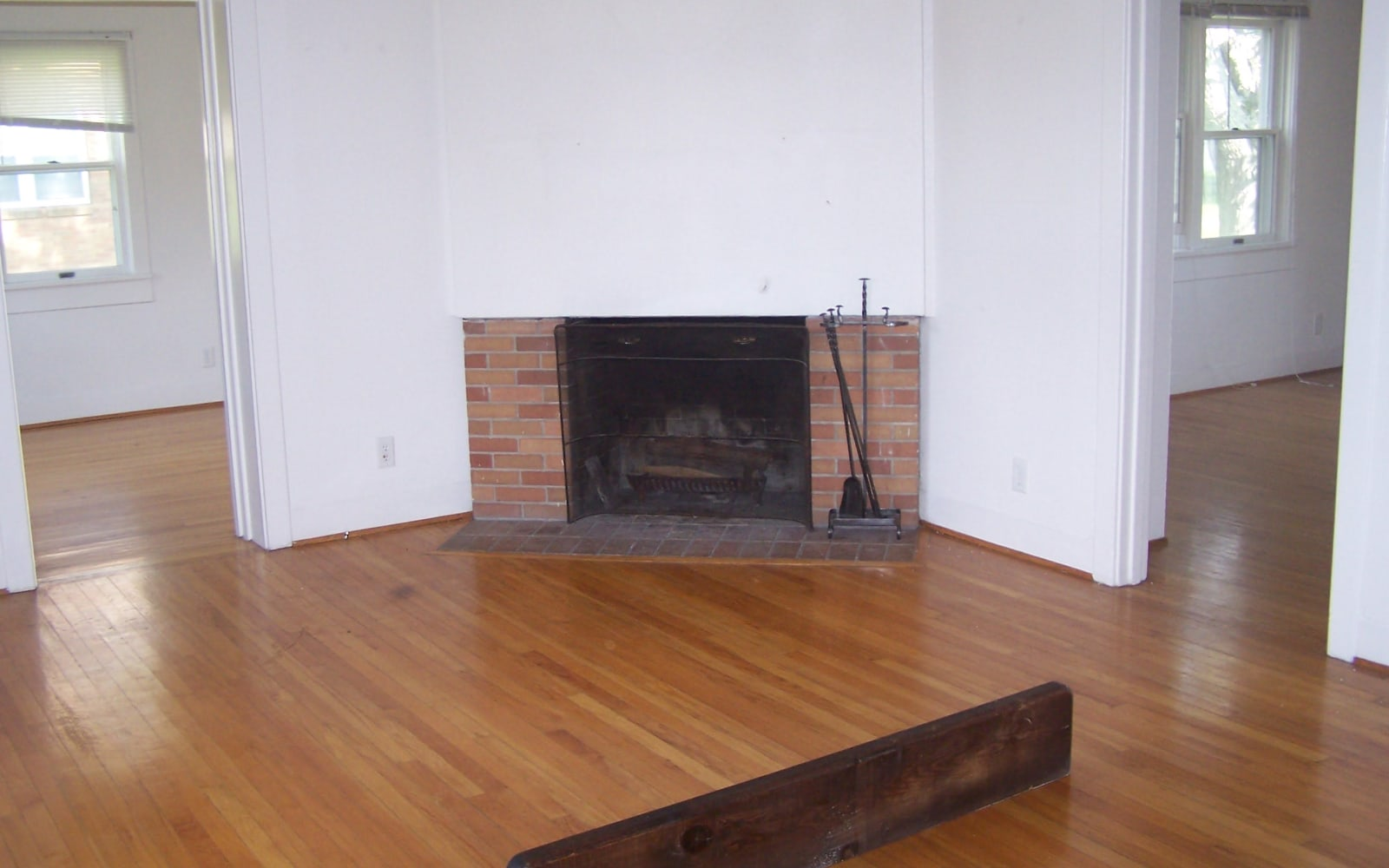 Fireplace inside of a unit at Spring Meadows in Romulus, New York