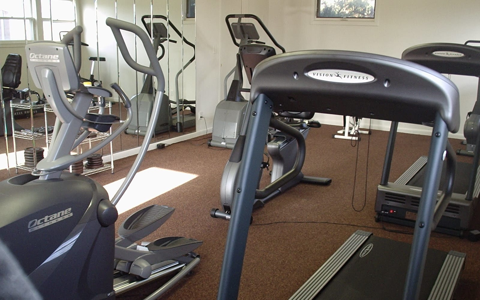 Fitness equipment at Spring Meadows in Romulus, New York