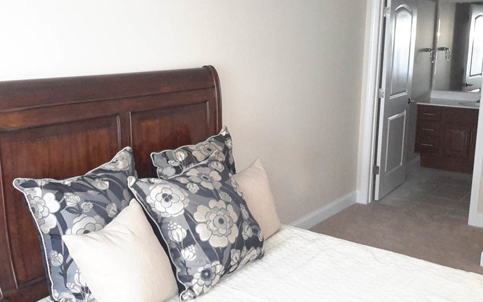 Cozy bedroom at Grassfields Commons in Dracut, Massachusetts