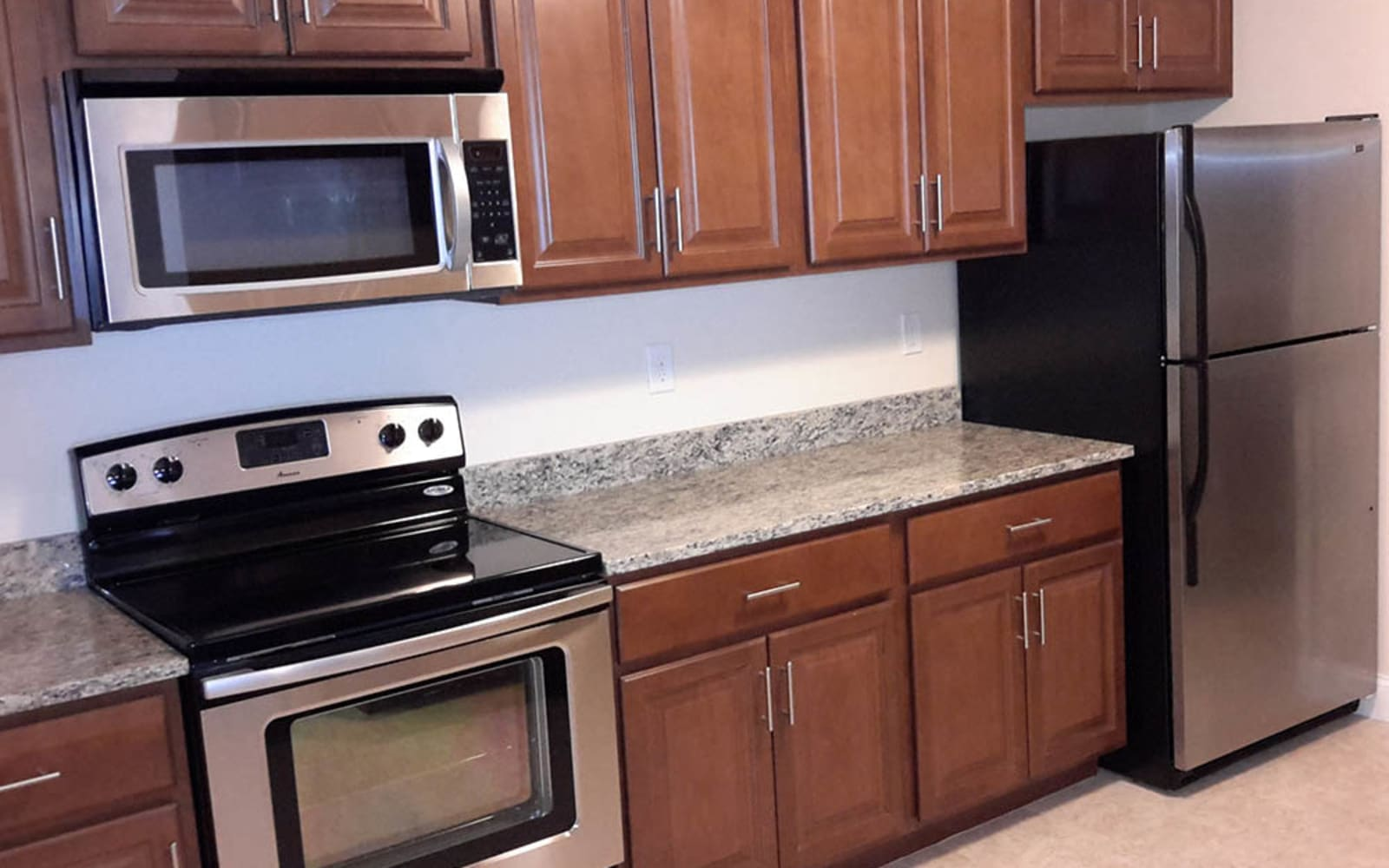 Enjoy an updated kitchen at Grassfields Commons in Dracut, Massachusetts