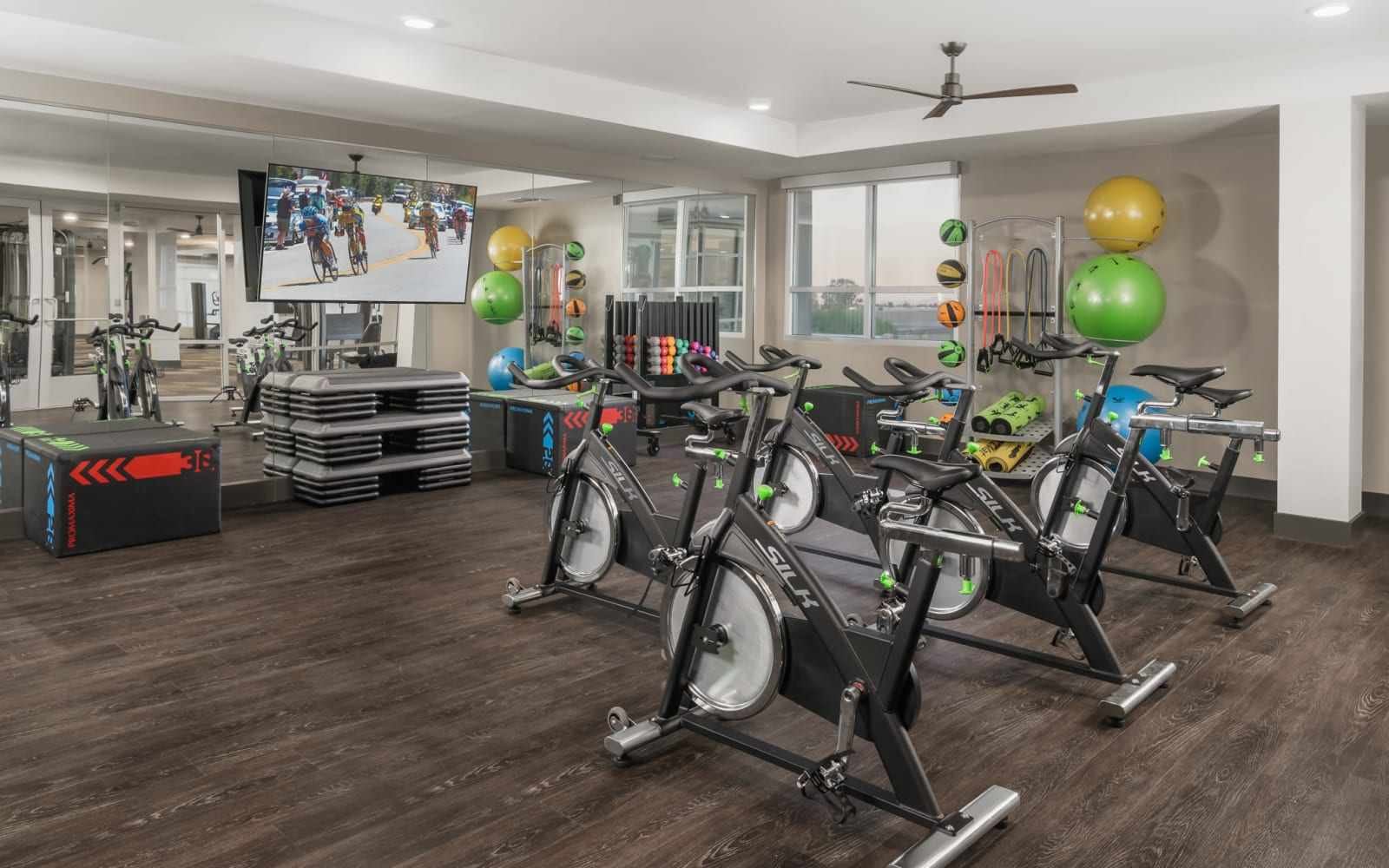 District at Scottsdale fitness center and spin bikes