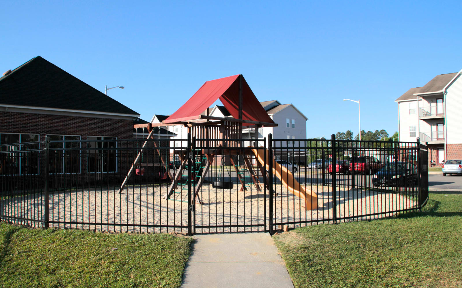 Brookstone Apartments in Fayetteville, North Carolina, offers a playgrounds