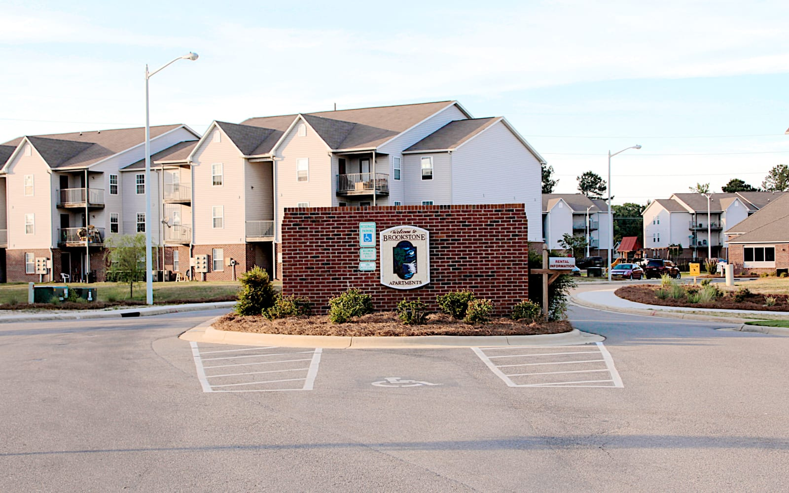 Brookstone Apartments in Fayetteville, North Carolina, front entrance