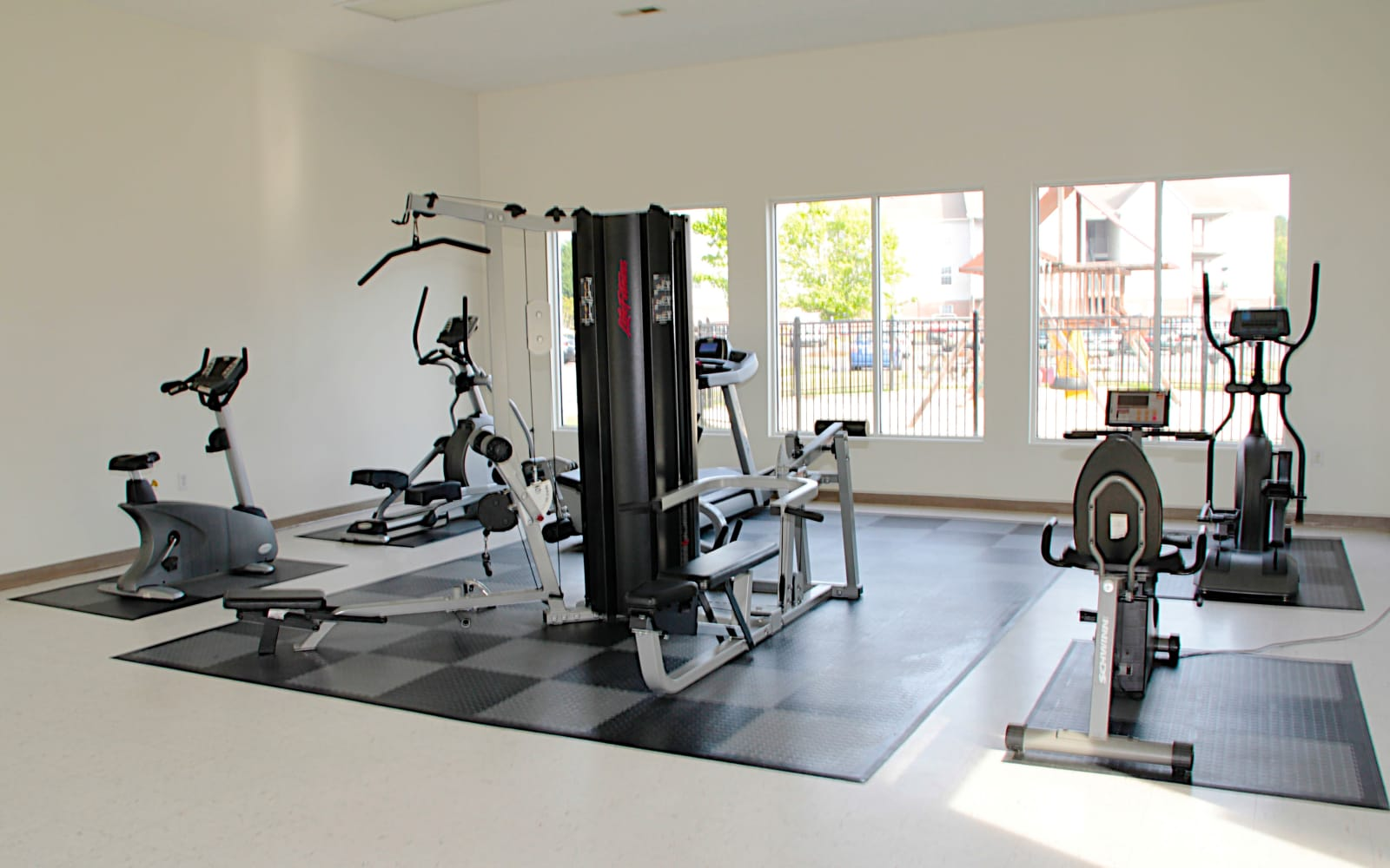 Brookstone Apartments in Fayetteville, North Carolina, offers a fitness center