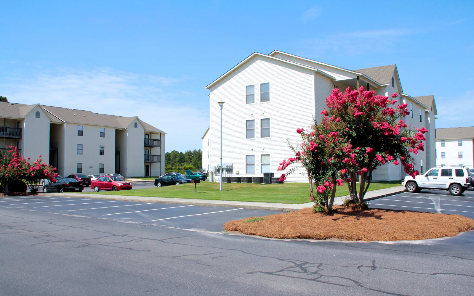 Well maintained grounds at Falcon Village Apartments in Fayetteville, North Carolina