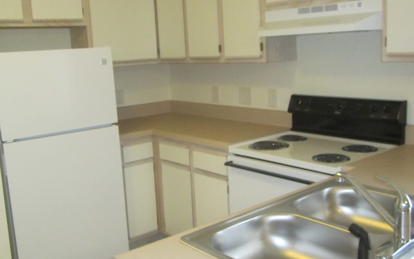 Clean kitchen at Wedgefield Apartments in Raeford, North Carolina