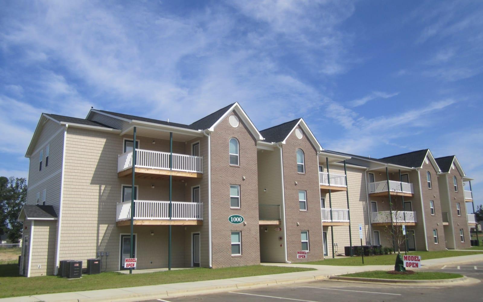 Beautiful new apartment buildings at Wedgefield Apartments in Raeford, North Carolina