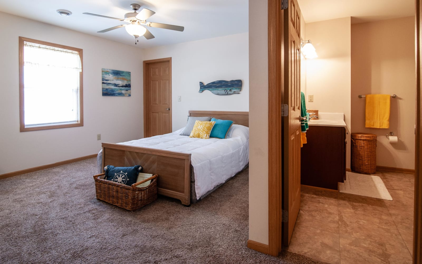Master bedroom at South Meadow in Ames, Iowa.