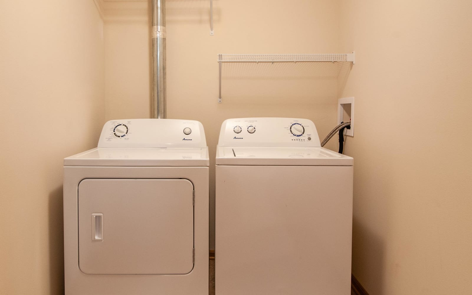 Washer and dryer at South Meadow in Ames, Iowa.