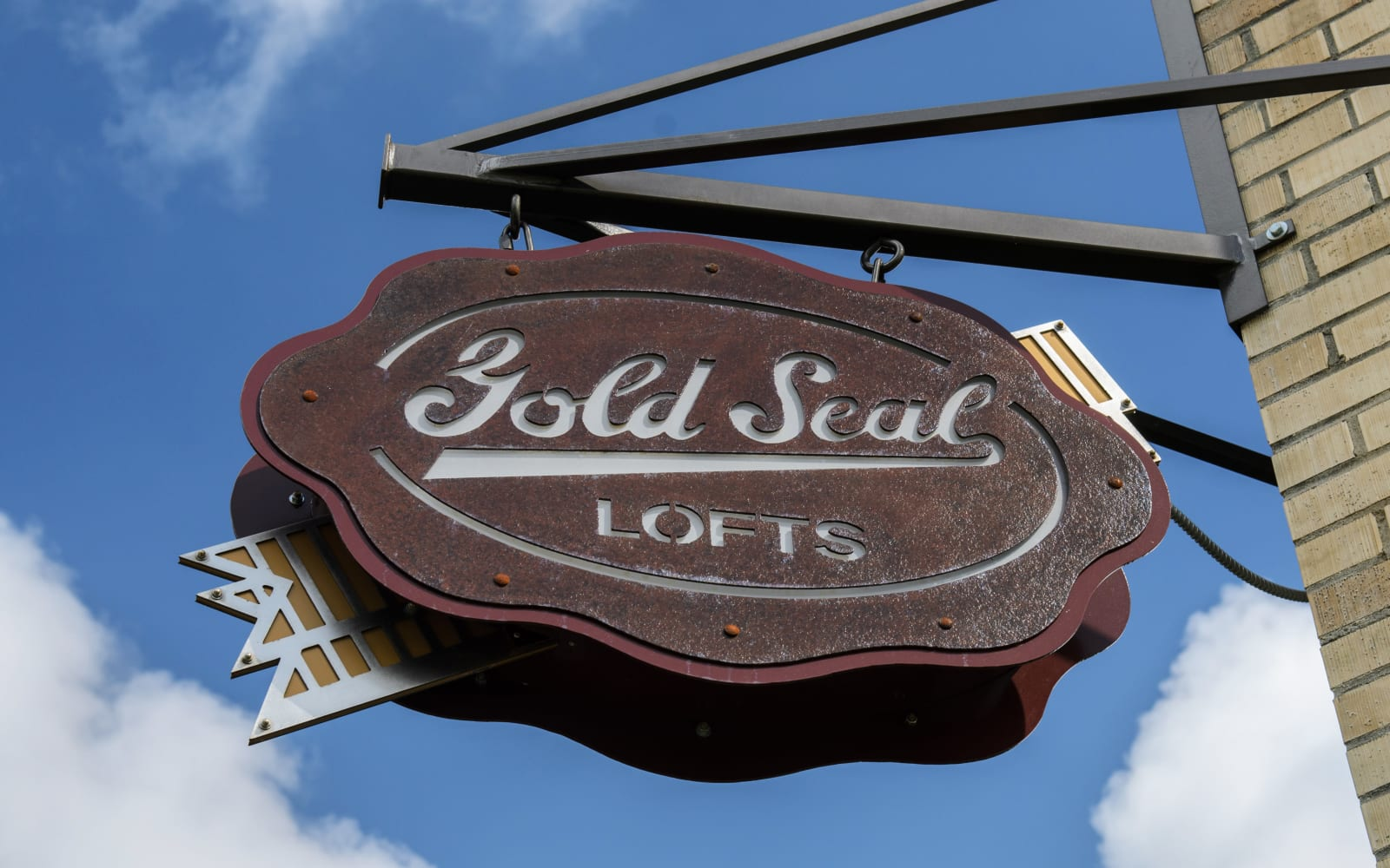 Exterior sign at Gold Seal Lofts in New Orleans, Louisiana