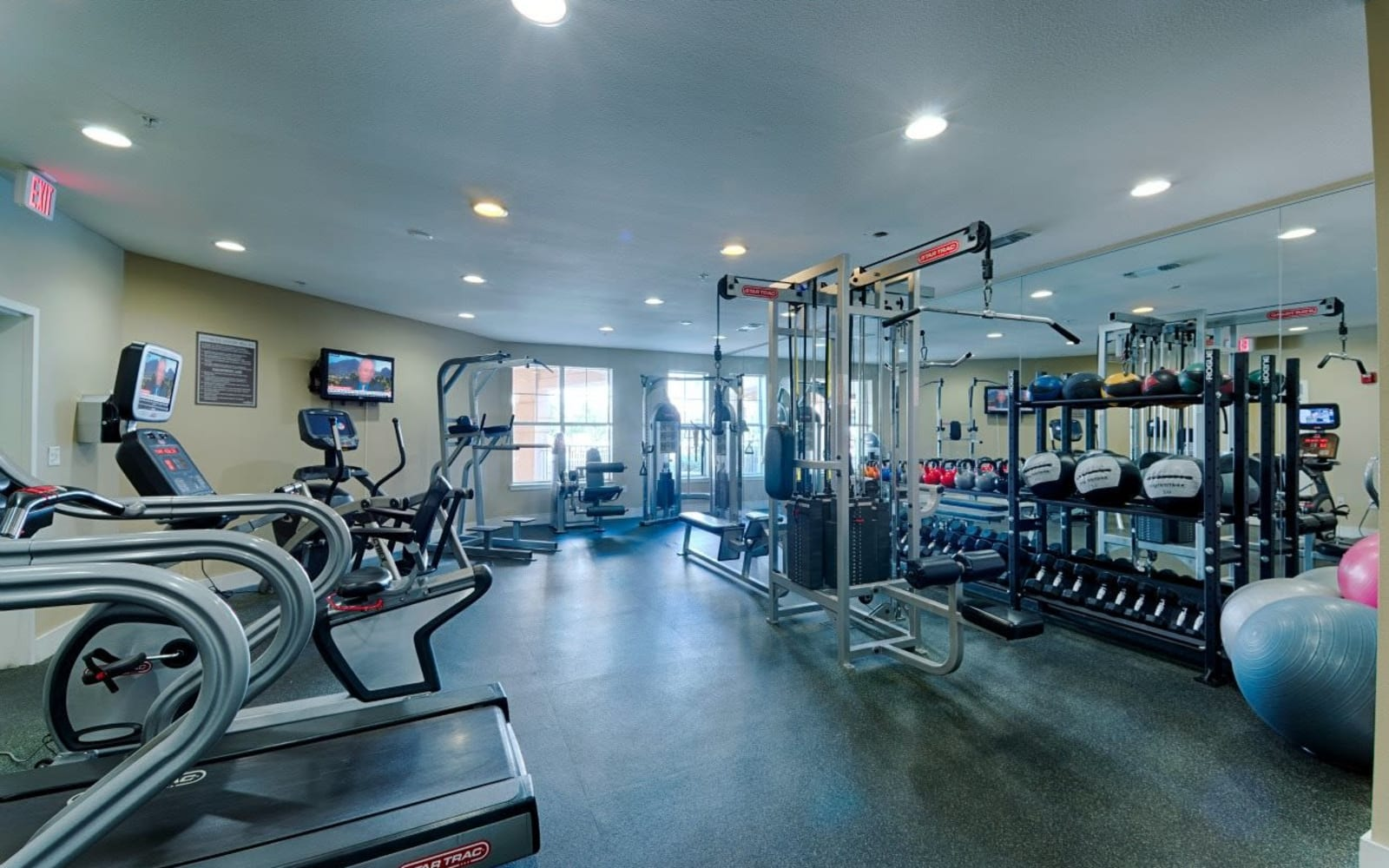Fitness center at The Preserve in New Orleans, Louisiana