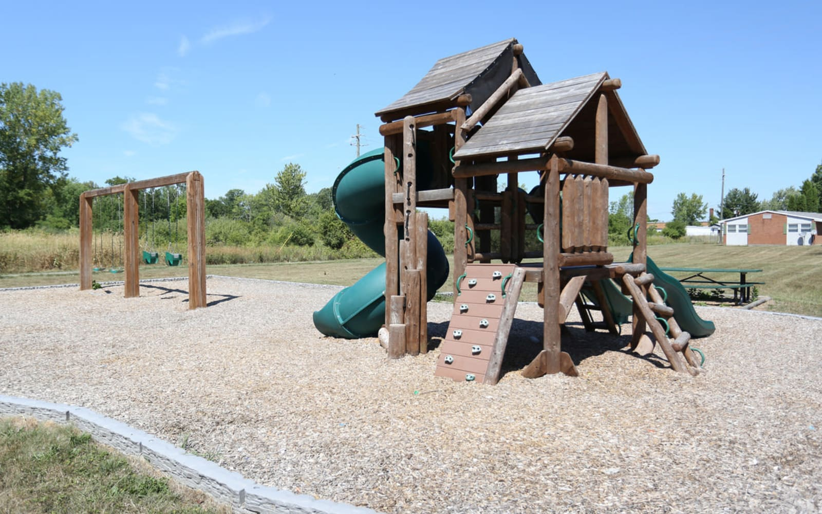 Kids playground at Spring Meadows in Romulus, New York