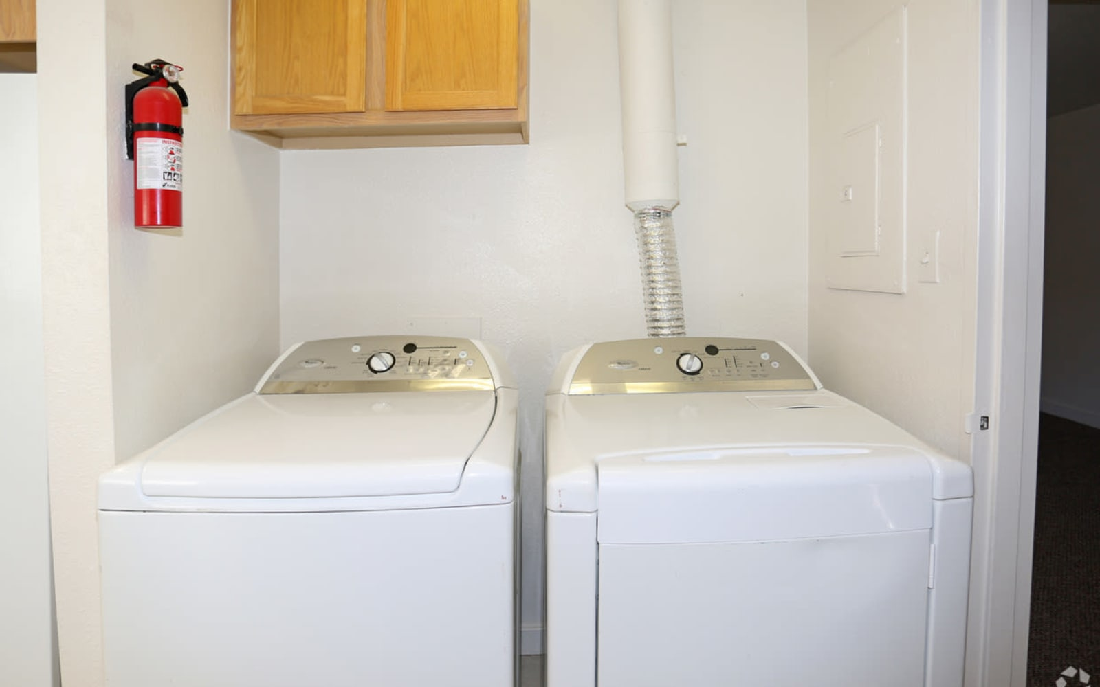 Town home laundry room at Spring Meadows in Romulus, New York