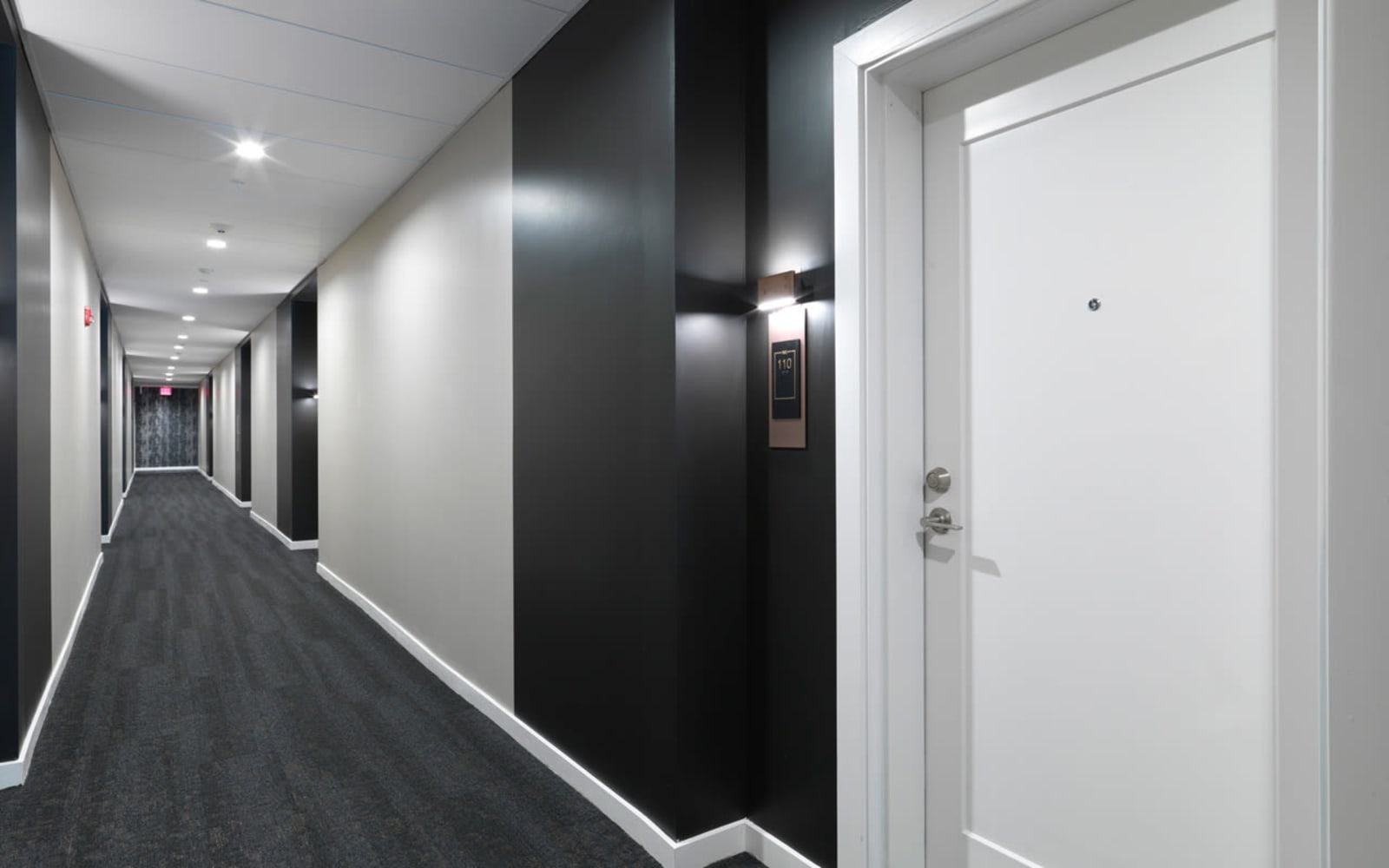 Hallways at North Square Apartments at The Mill District in Amherst, Massachusetts