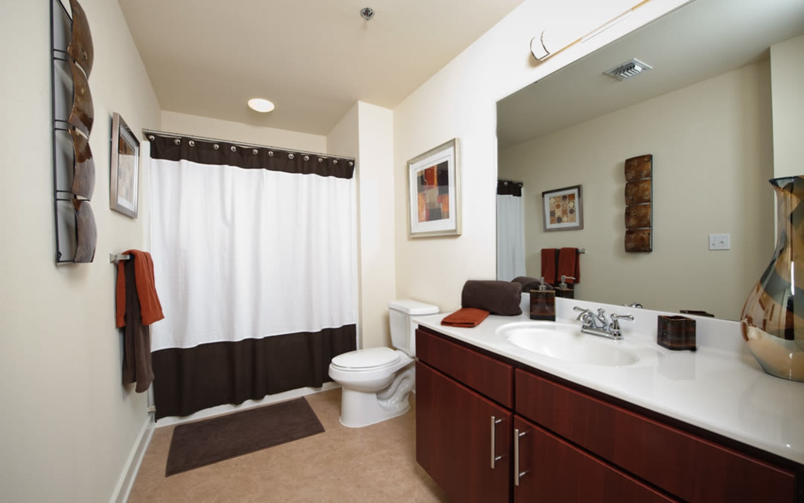 Large bathroom at Crescent Club in New Orleans, Louisiana