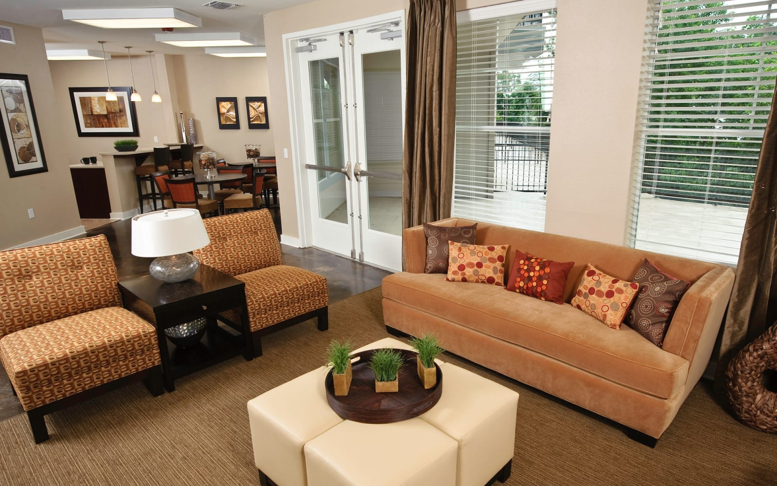 Resident lounge at Crescent Club in New Orleans, Louisiana