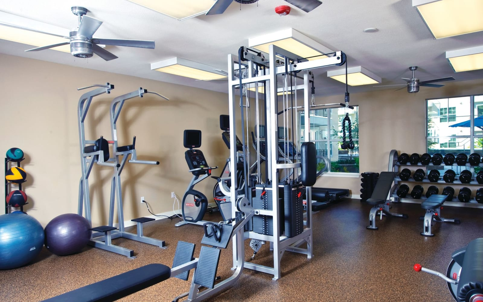 Gym equipment at Crescent Club in New Orleans, Louisiana