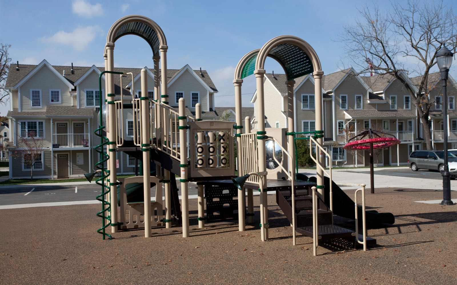 Playground at Markham Gardens in Staten Island, New York