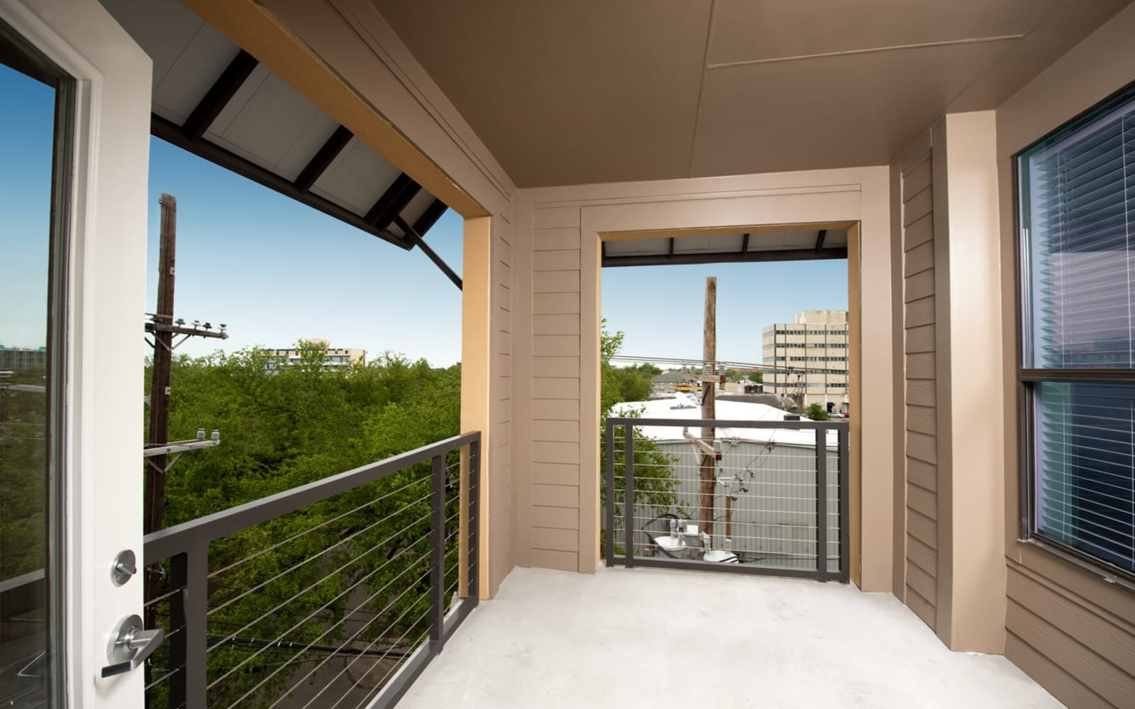 Private balcony at Meridian in New Orleans, Louisiana