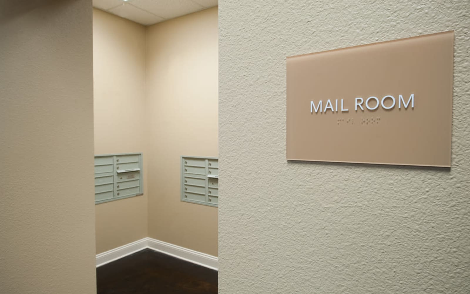 Mail room at Meridian in New Orleans, Louisiana