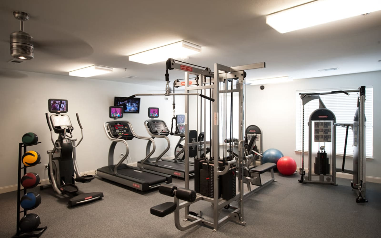 Fitness center at Meridian in New Orleans, Louisiana