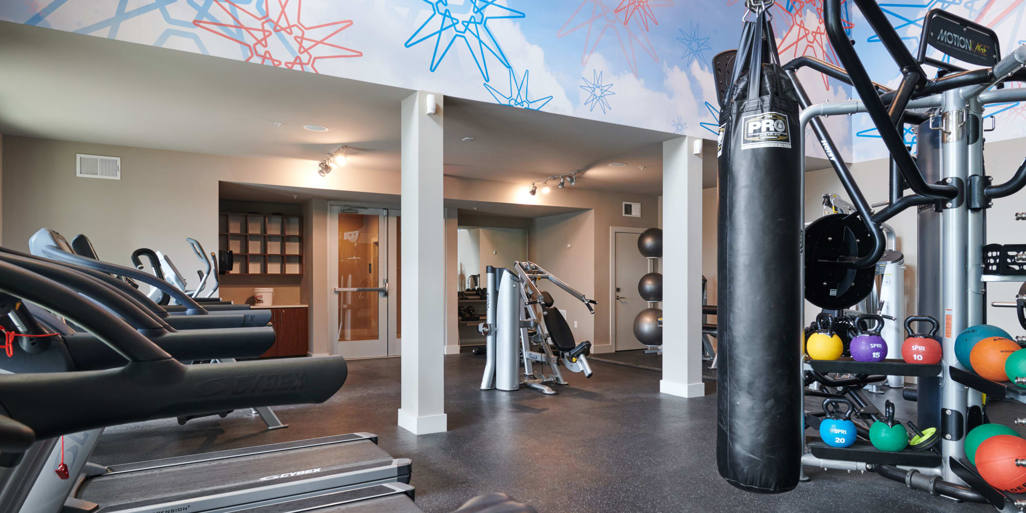 Luxury fitness center at The Kennedy in San Antonio, TX