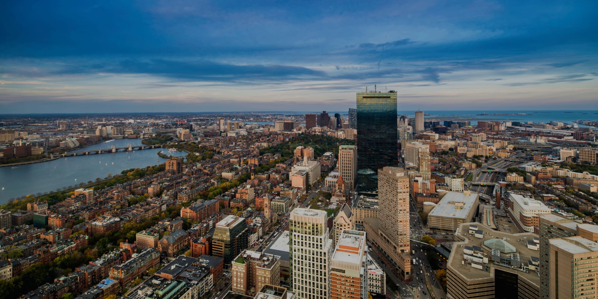Aerial view of Boston, MA