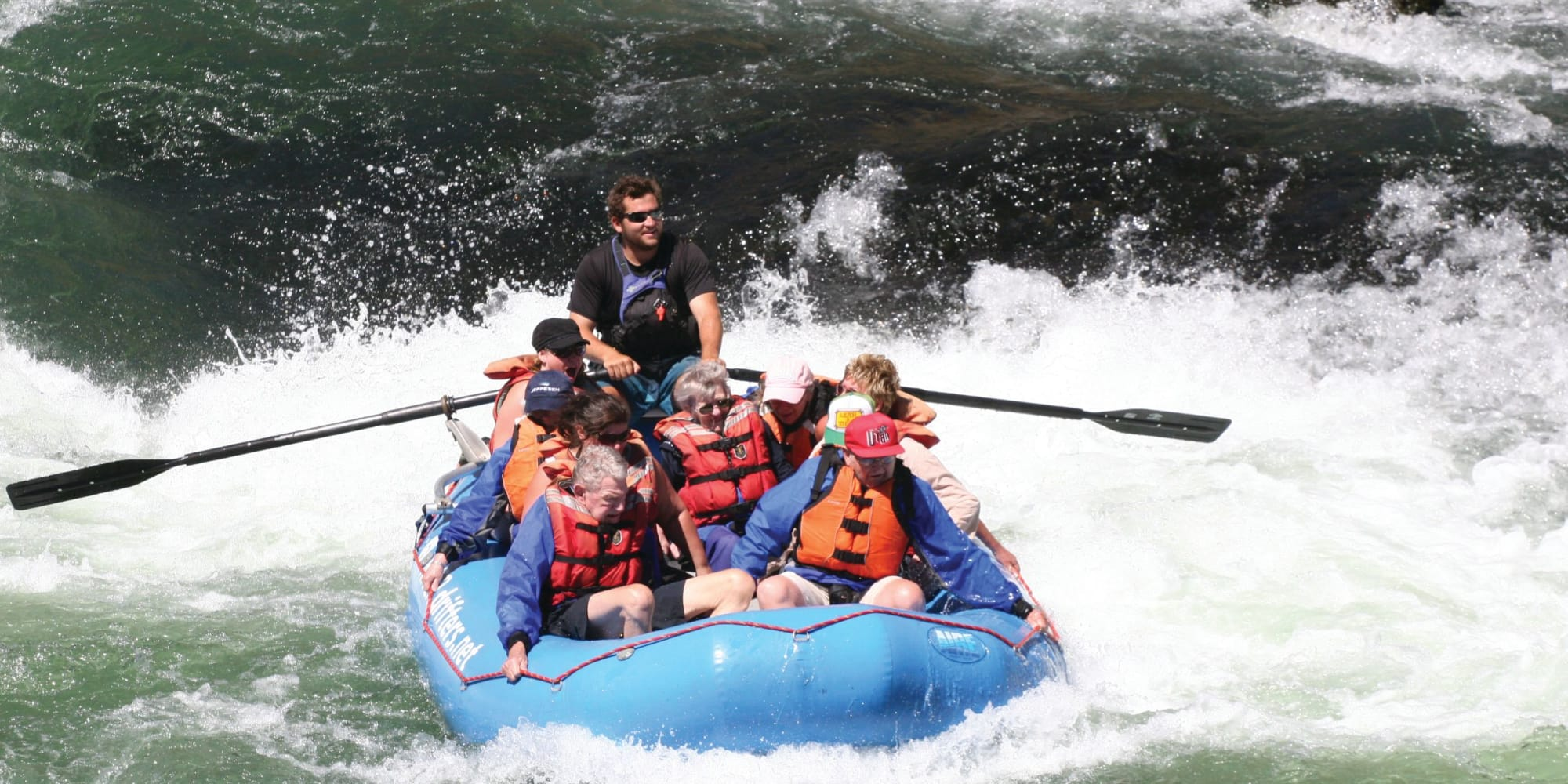 Residents of Somerset Assisted Living in Gladstone, Oregon white water rafting
