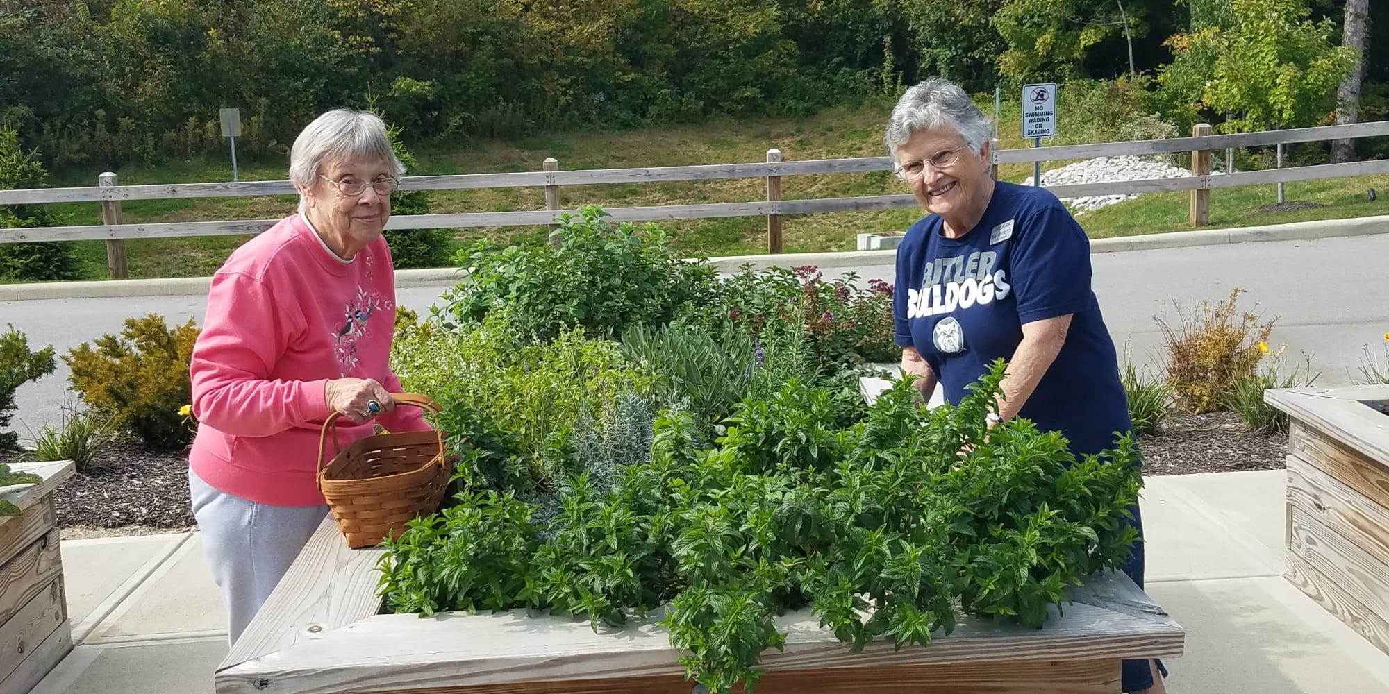 Residents in the community garden at Amber Park in Pickerington, Ohio