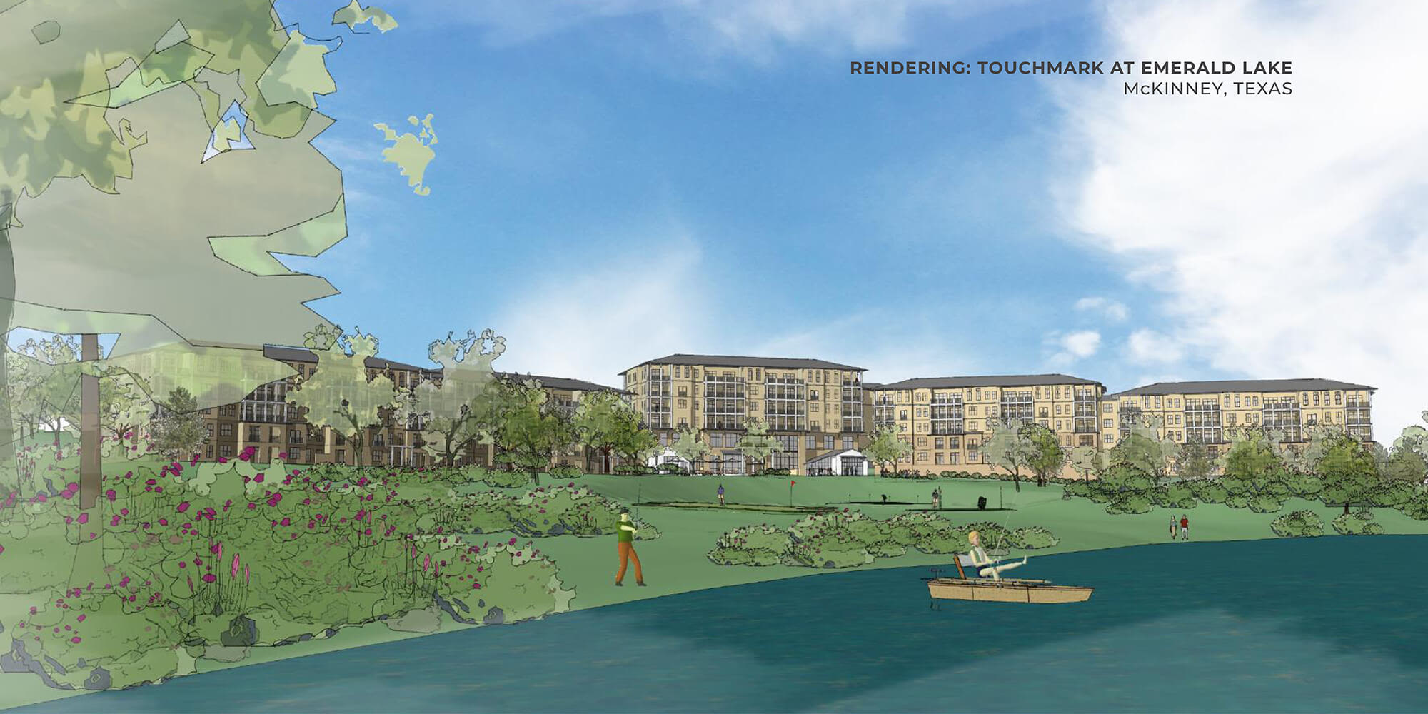 Rendering of Touchmark at Emerald Lake in McKinney, Texas