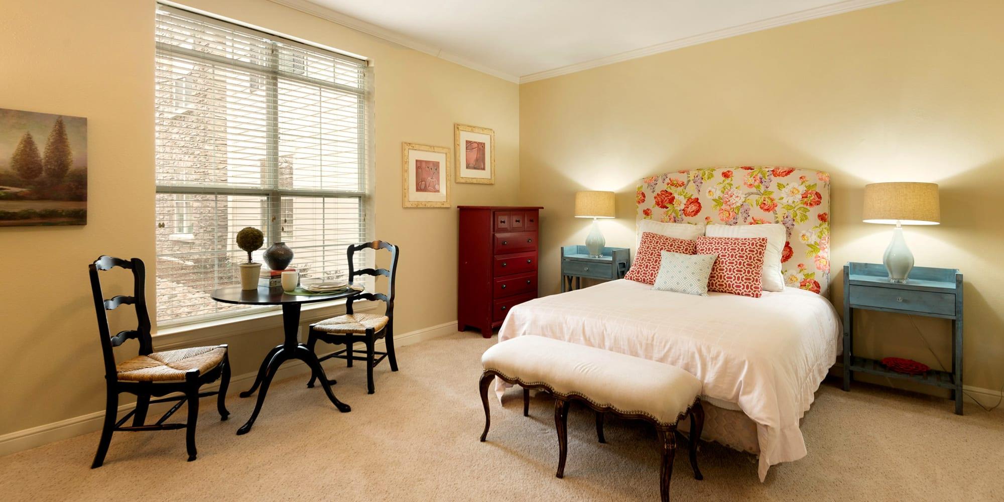 Living space inside Prestonwood Court in Plano, Texas
