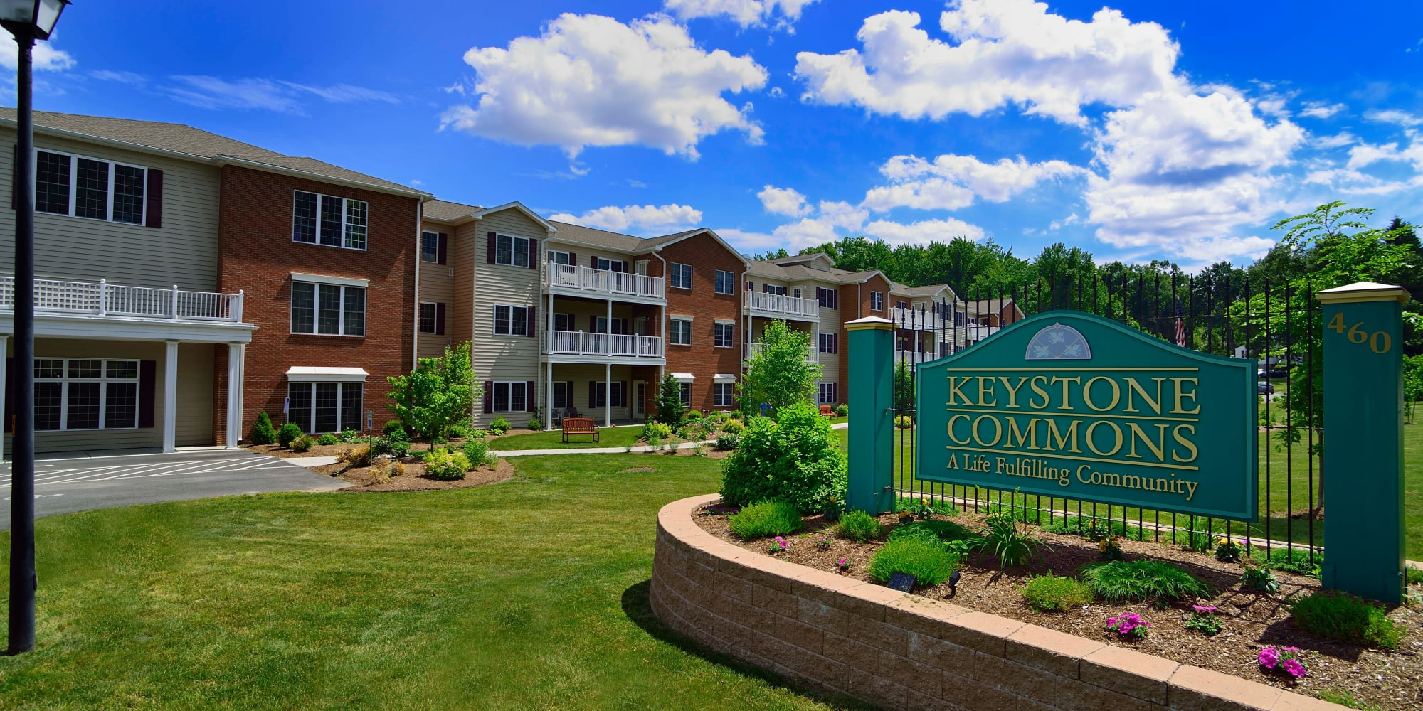 Branding and signage at Keystone Commons in Ludlow, Massachusetts