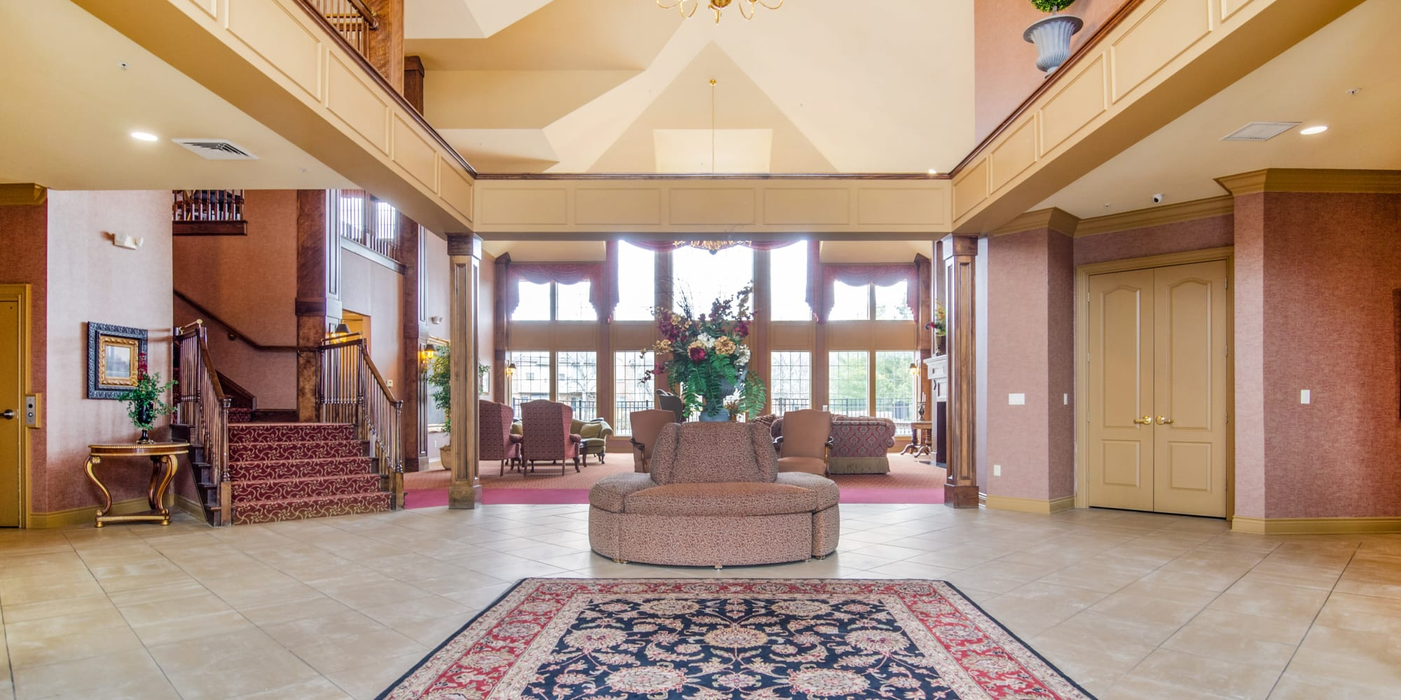 A large lobby at of Central Park Estates in Novi, Michigan
