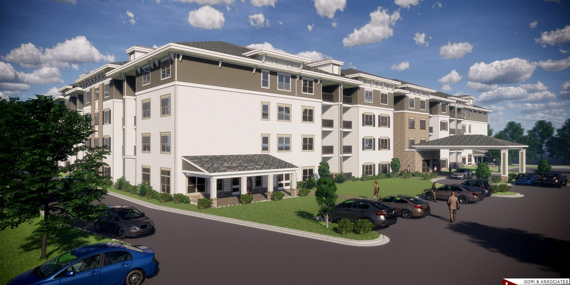 Rendering of Keystone Place at Richland Creek in O'Fallon, Illinois.