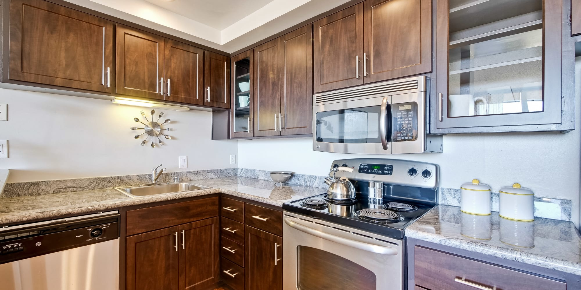 Apartments with luxury kitchens at The Marc, Palo Alto in Palo Alto, California