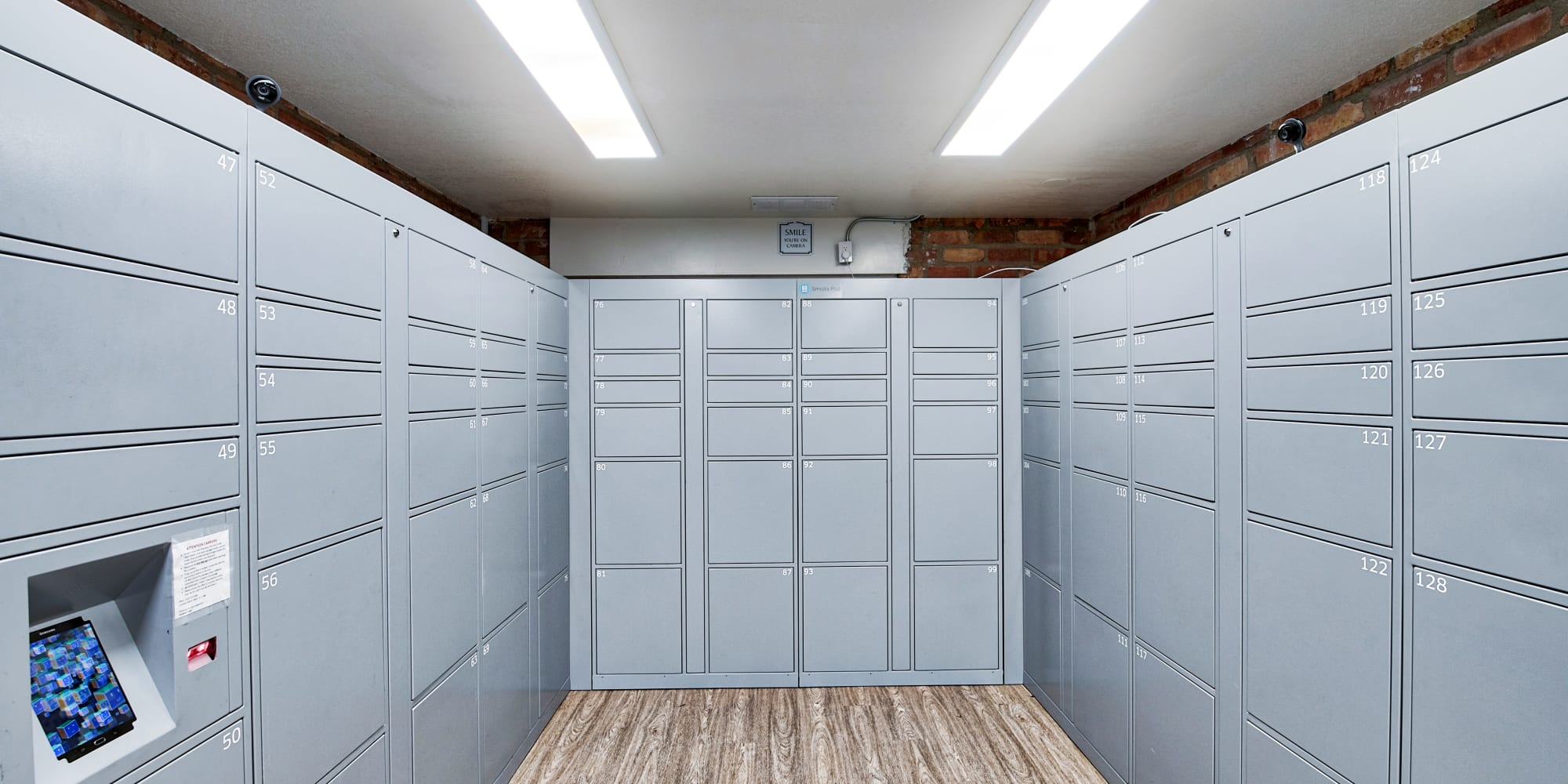 Secure package lockers at The Meadows in Culver City, California