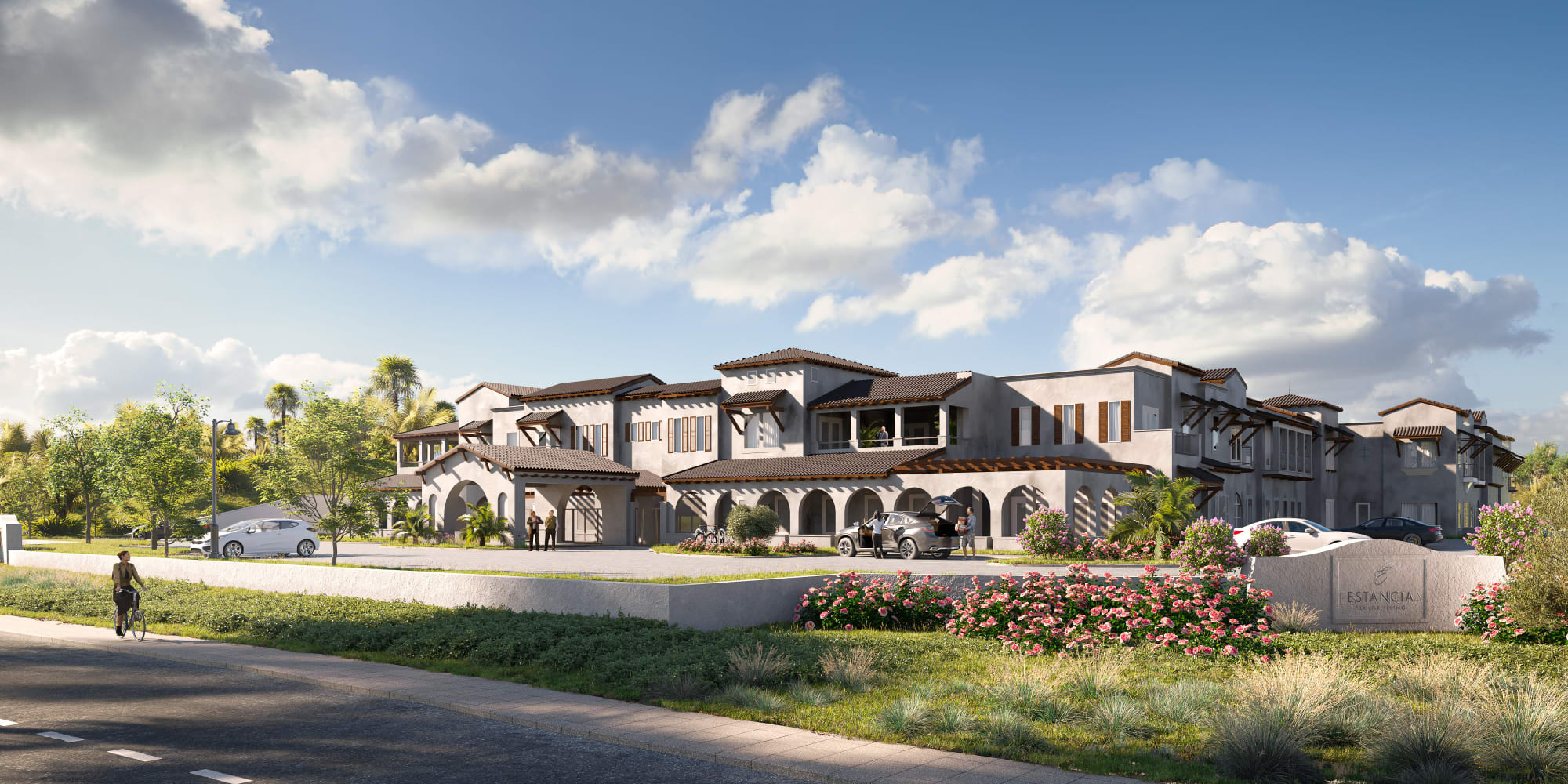 Exterior Rendering of Estancia Senior Living - Front Facade
