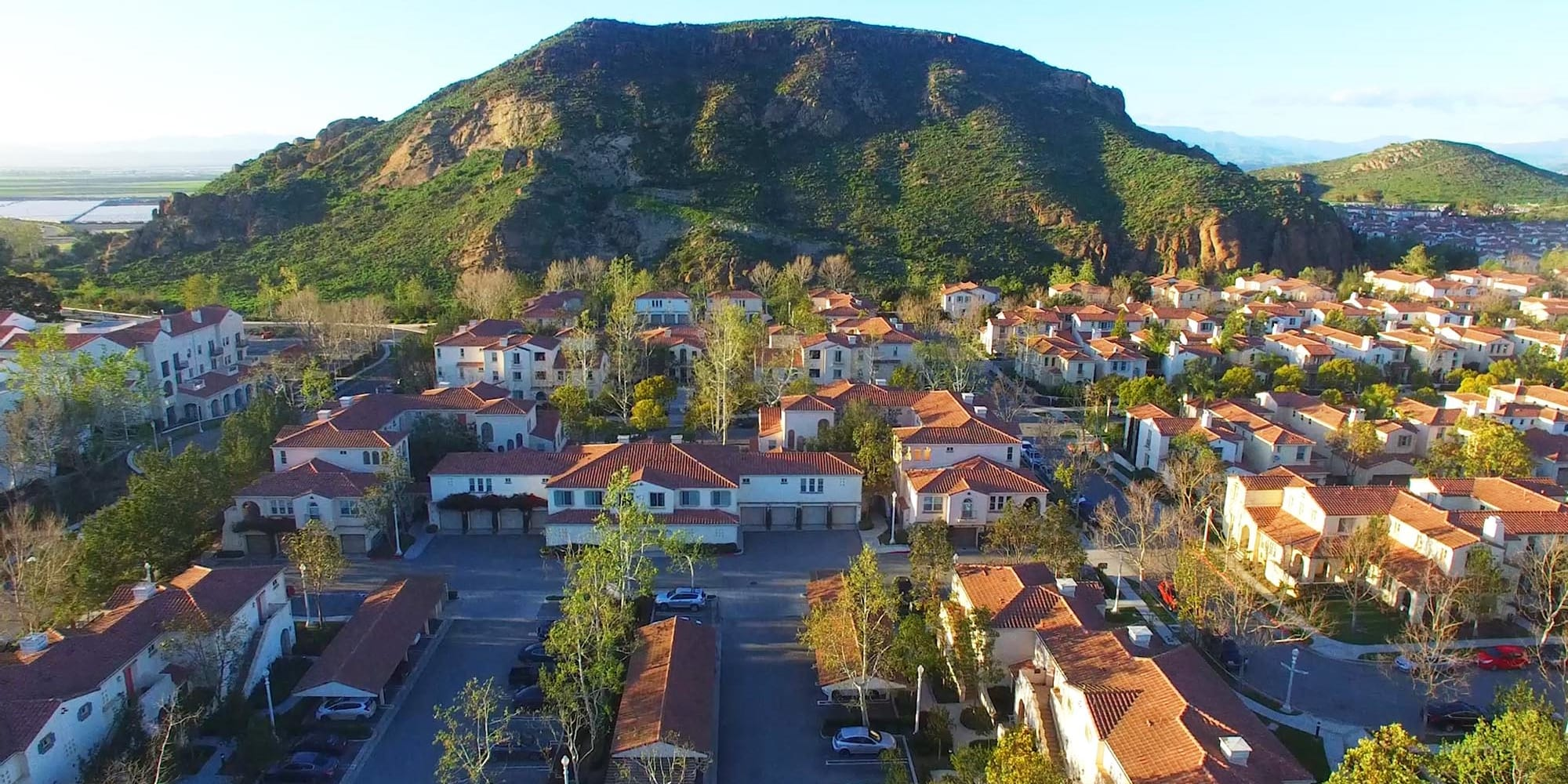 Aerial view of our luxury mission-style community at Mission Hills in Camarillo, California
