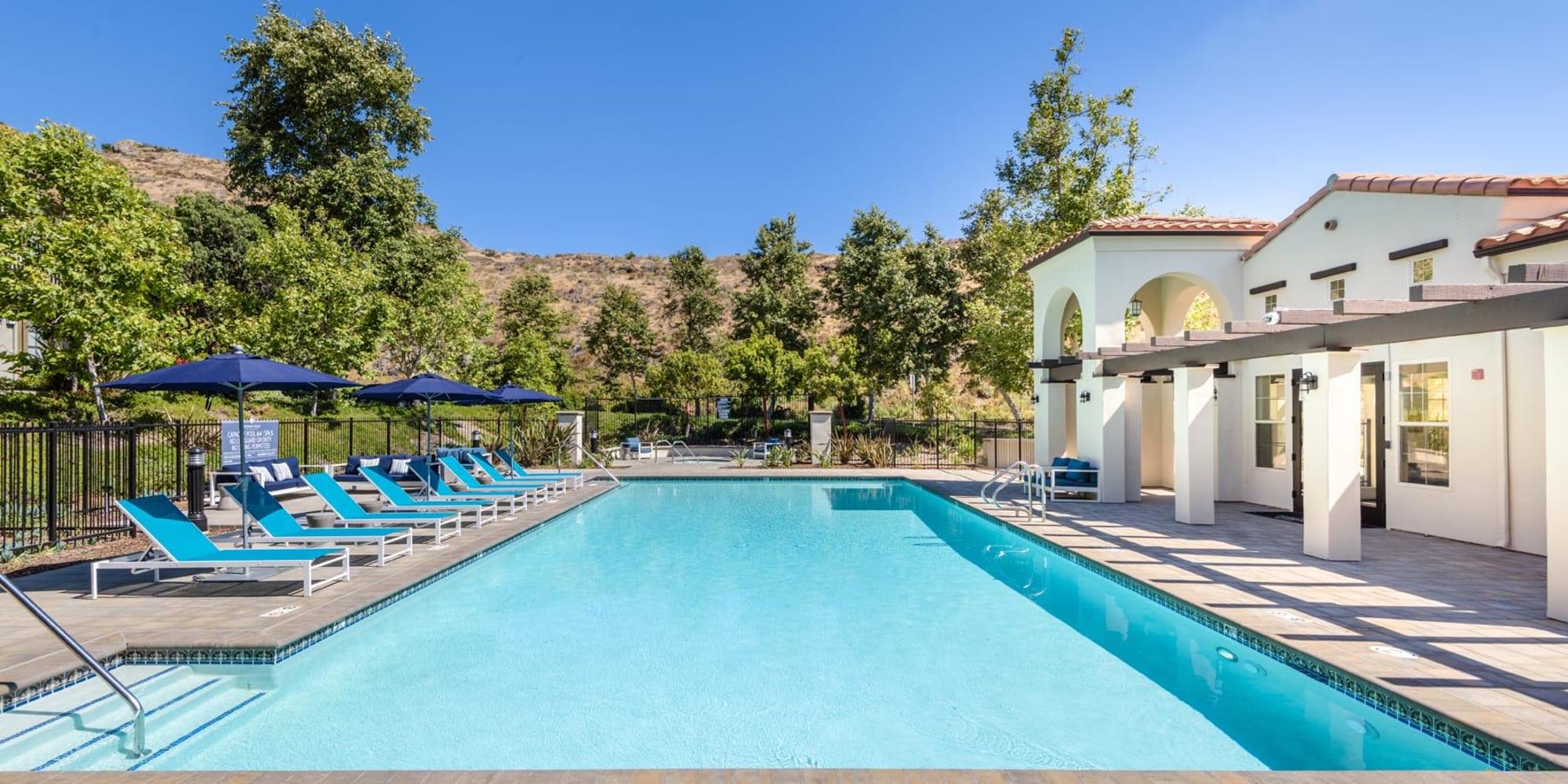 Resort-style swimming pool at Mission Hills in Camarillo, California