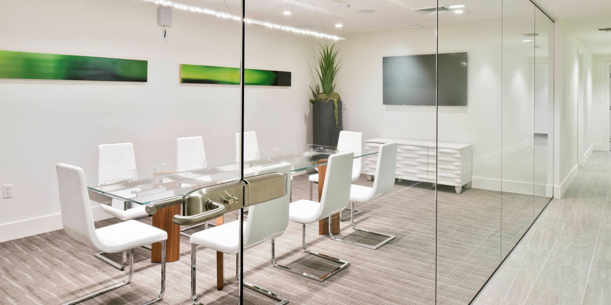 Meeting room in the business center at Esprit Marina del Rey in Marina Del Rey, California