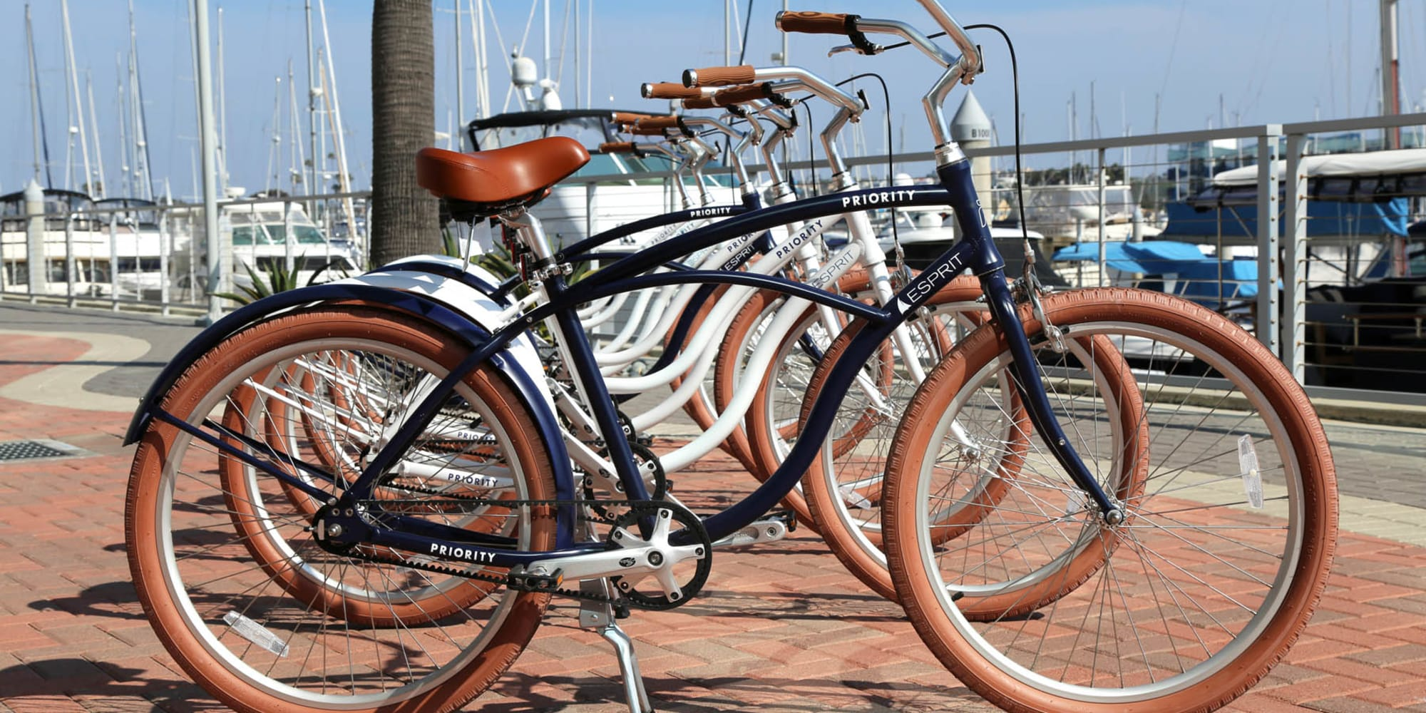 Bicycles for resident use at Esprit Marina del Rey in Marina Del Rey, California