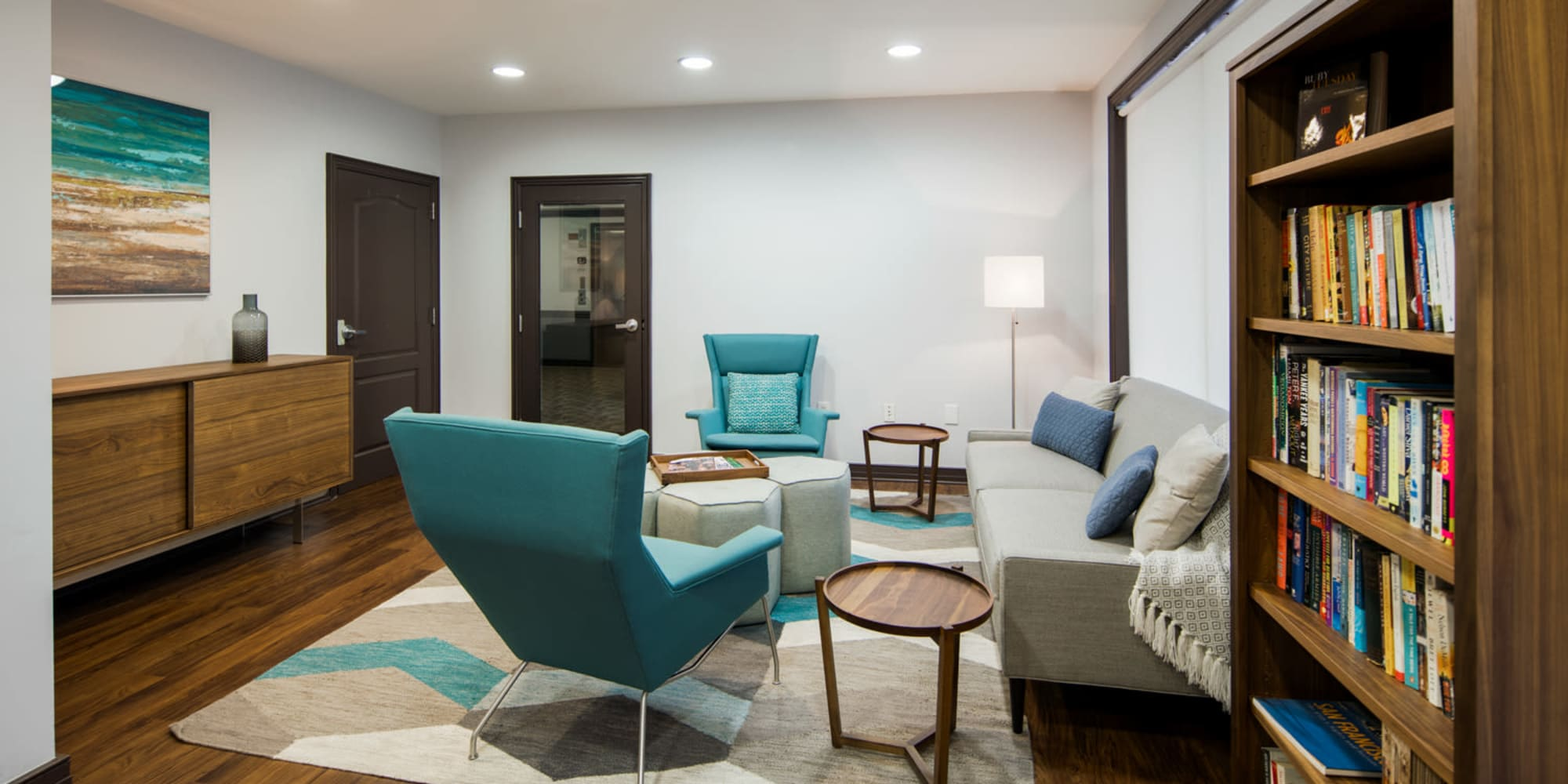 High end clubhouse at Sofi Gaslight Commons in South Orange, New Jersey