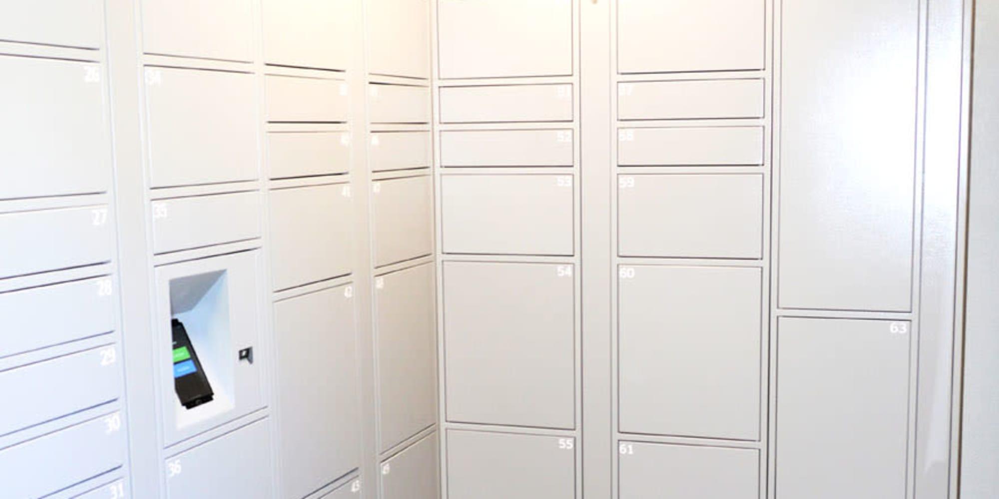 Secure package area at Pleasanton Glen Apartment Homes in Pleasanton, California