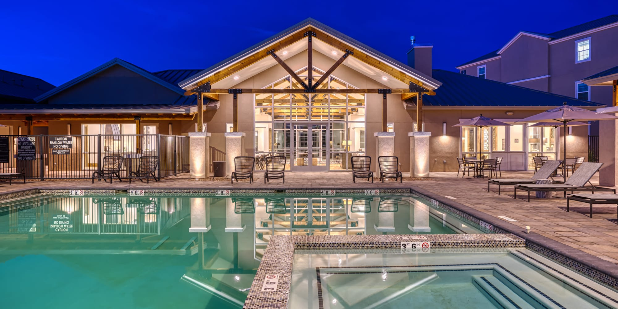 Luxury pool at Olympus Rodeo in Santa Fe, New Mexico