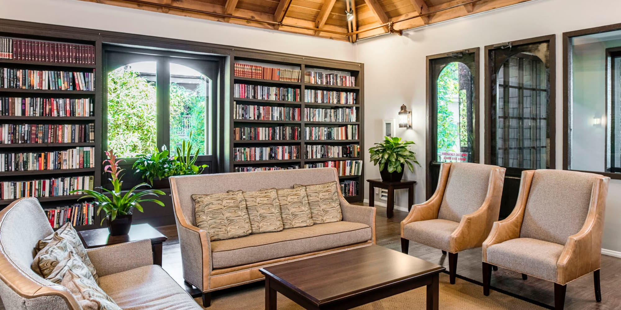 Resident library in the clubhouse at Mariners Village in Marina del Rey, California