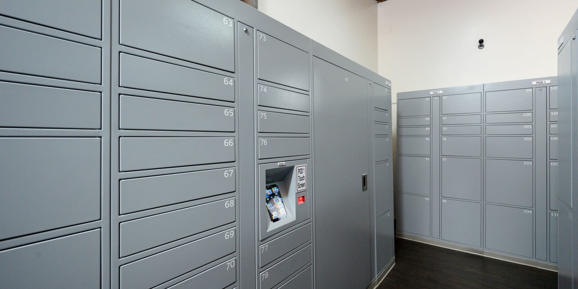 Resident secure package lockers at Mariners Village in Marina del Rey, California
